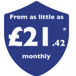 From as little as £21.42 monthly